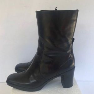 Nine West Shoes - Nine West Foxleigh Black Leather Heeled Boots 6M